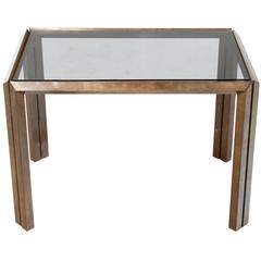 Gorgeous Mid-Century Bronze Side Table