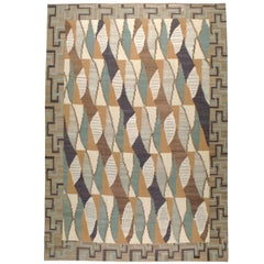 Modern Persian Flat-Weave Kilim Rug