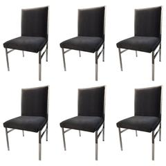 Set of Six Mid-Century Modern Dining Chairs in Style of Milo Baughman