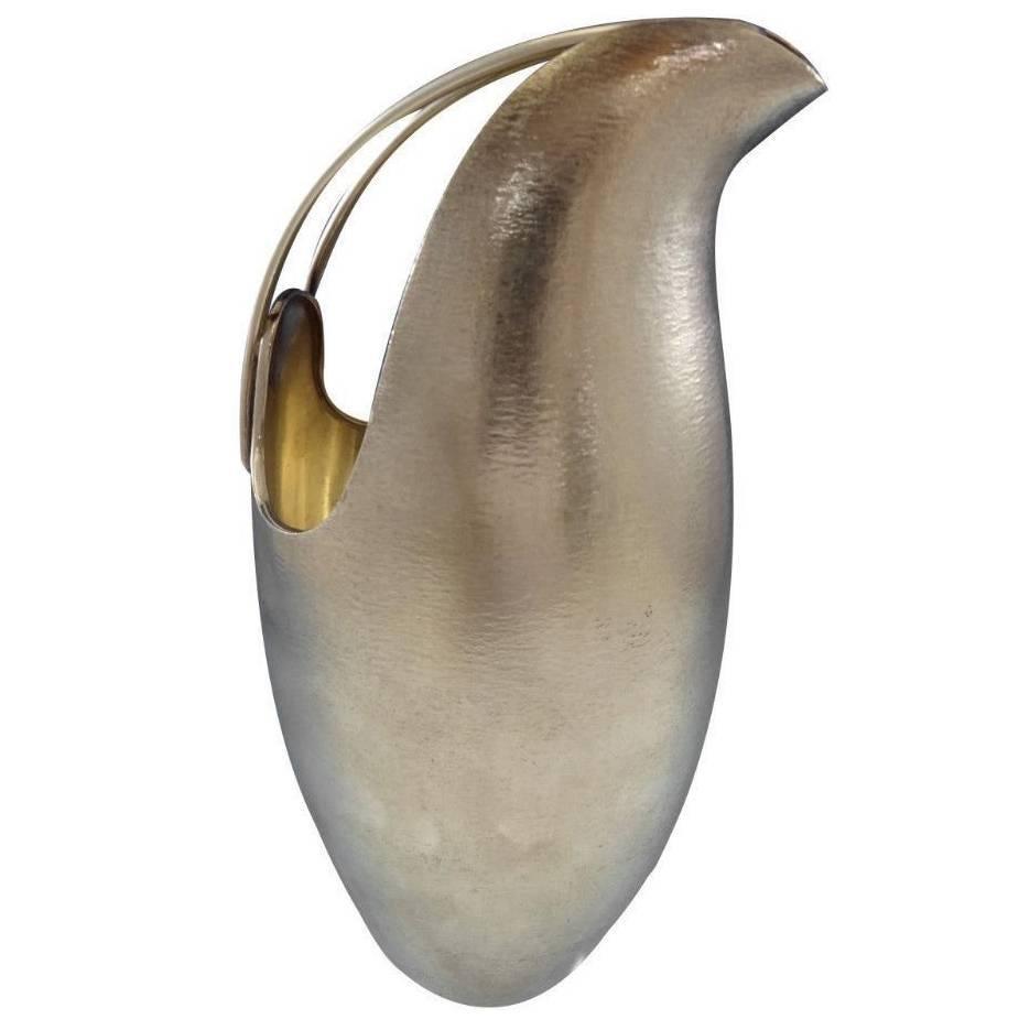 De Vecchi Sterling Silver Vase Pitcher Jug Mid-Century Modern, Italy Hollowware