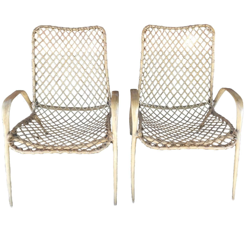 Pair of Translucent Fiberglass Chairs circa 1950s at 1stdibs