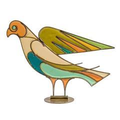 Taubenfigur aus Kunstharz und Messing von Franz Hagenauer, Art-Déco, 1940er-1950er Jahre