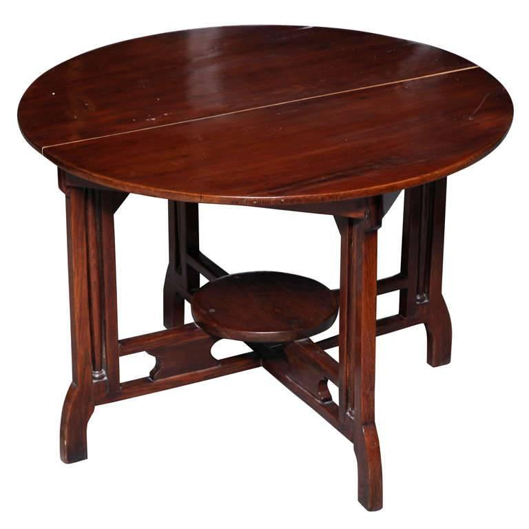 1930s art deco shanghai coffee table made of varnished elm with quadripod base for sale at 1stdibs
