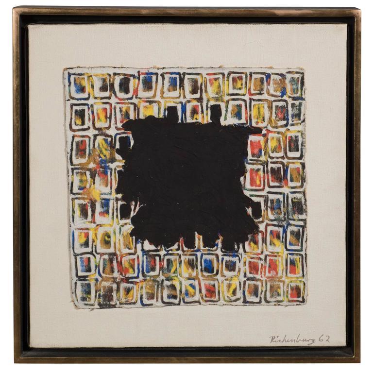 Mid-Century Modernist Oil on Canvas, Robert Richenburg Lost White, 1962