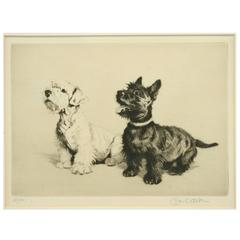 """""""What about a Walkie?"""" Dog Etching"""
