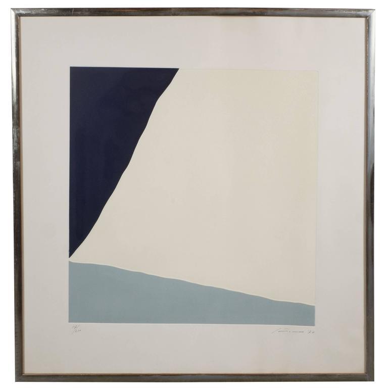 Mid century modernist minimalist print untitled dated for Minimal art 1970