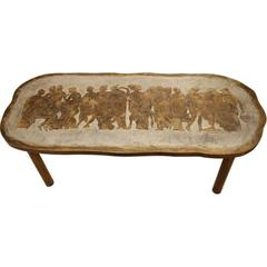 Signed Philip and Kelvin LaVerne Greco/Romanesque Coffee Table