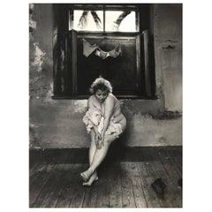 "Jan Saudek Limited Silver Gelatin Photographic Print ""A Maidservant's Story"""