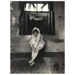 "Jan Saudek Silver Gelatin Photographic Print ""A Maidservant's Story"""