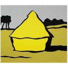 Roy Lichtenstein Haystack, 1969 Original Silkscreen Print
