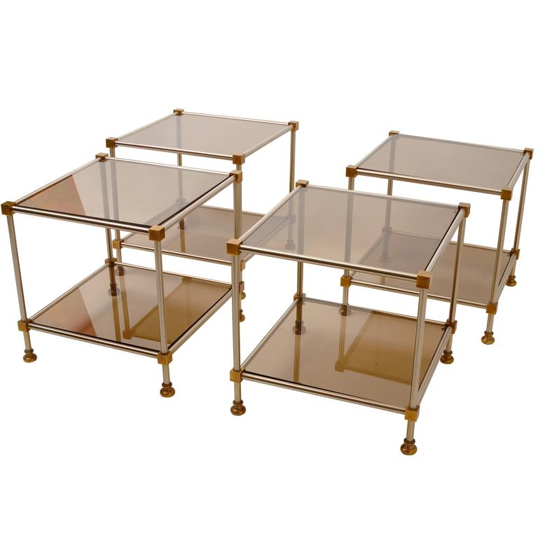 Set of Four Side Tables Attributed to Maison Jansen