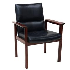 Mid-Century Danish Modern Rosewood Desk Office Side Armchair