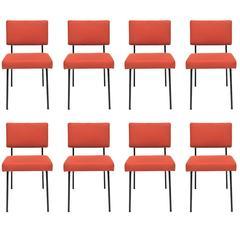 Set of Eight Chairs by Gerard Guermonprez, Guermonprez Edition, 1958