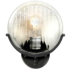 1915 Automobile Headlight Lens Sconce
