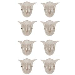 Set of Eight Sconces Edited by Mazzega