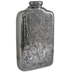 Large Silver Spirit Flask by Tiffany & Co., circa 1880