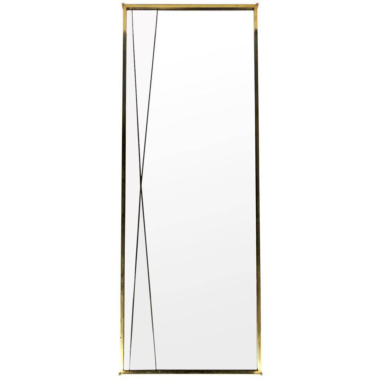 "Clean-Lined ""x"" Mirror by Paul McCobb"