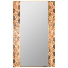 Brass-Plated, Interior Lit Surround Mirror