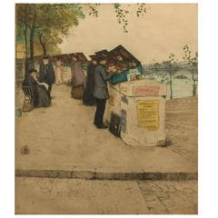"Tavik Frantisek Simon ""Motif From Seine, Paris"""