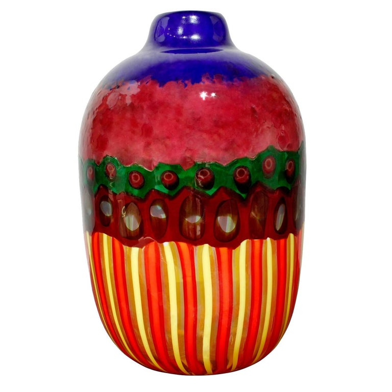 Anzolo Fuga Vase with Glass Fragments, 1958-1968 For Sale