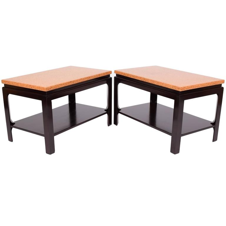 Pair of Side Tables by Paul Frankl for Johnson Furniture For Sale