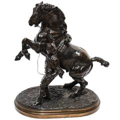 19th Century Bronze Sculpture of a Stallion by Sir Edgar Joseph Boehm