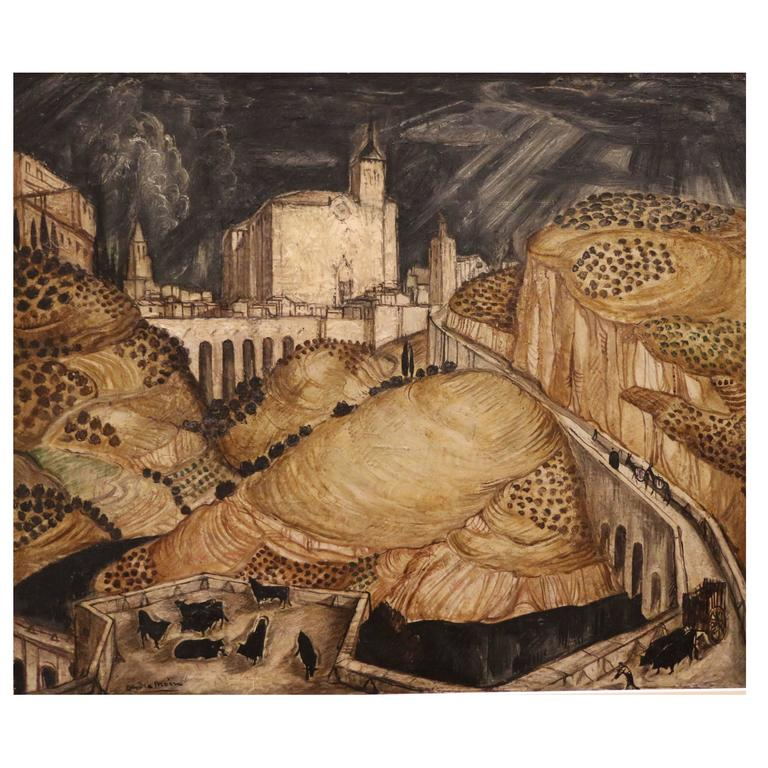 View of Toledo 'Spain' by André Maire, France, Art Deco, 1930s