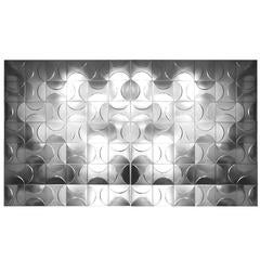 Set of 84 Metal Decorative Panels of Relief Geometrical Figures, France, 1970