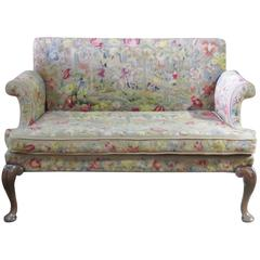 Queen Anne Style Needlepoint Settee