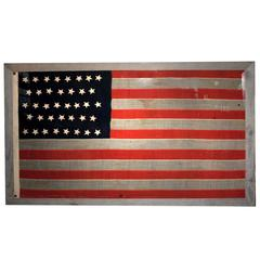 Antique 38 Star American Flag
