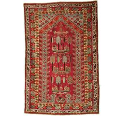 Antique Anatolian Kirsehir Village Prayer Rug, circa 1870