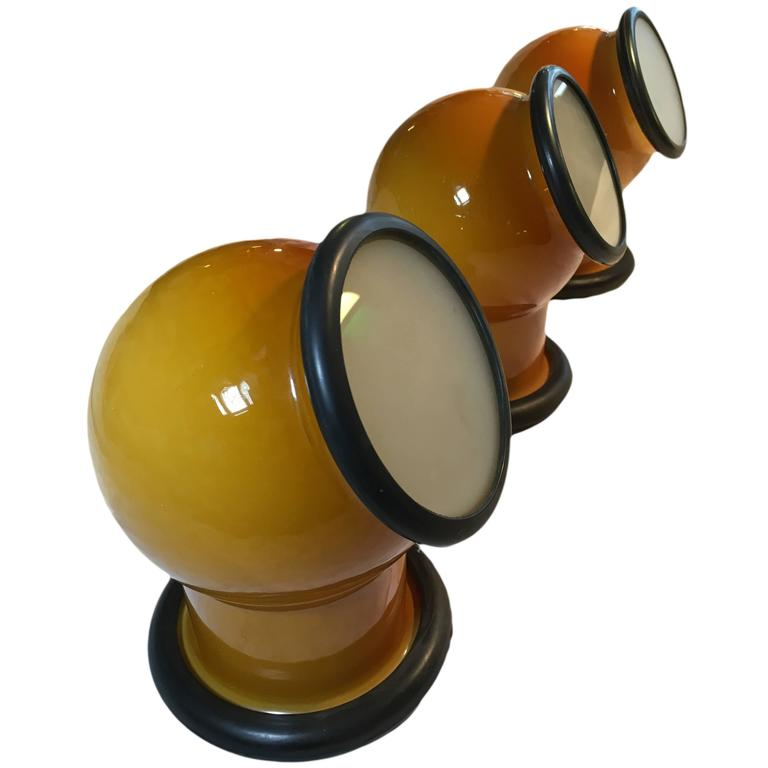 Pair of Holmegaard Glass 'Epoke' Lamps by Michael Bang