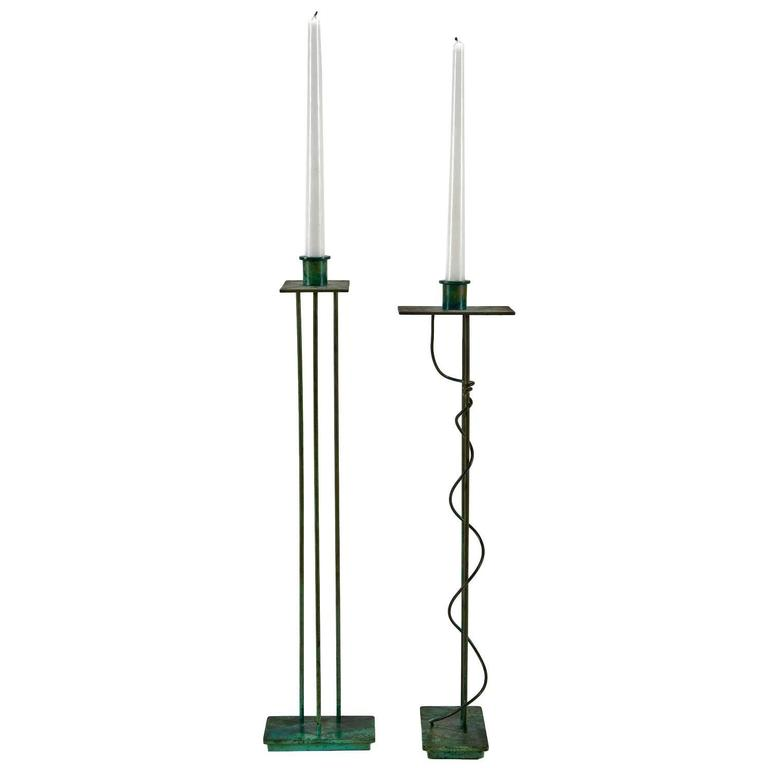 Pair of Architectural Candlesticks 'Prototypes' by Steven Holl for Swid Powell