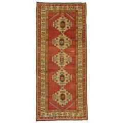 Vintage Turkish Oushak Runner with Modern Style