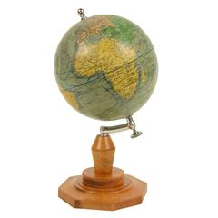 Terrestrial Globe Drawn by the Geographer J. Forest