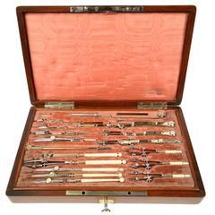 Beautiful Compasses Mahogany Box, 1858
