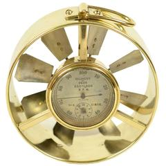 Small Brass Anemometer Second Half of the 19th Century