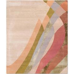 'Masterpieces_Destiny' Hand-Knotted wool & silk, Contemporary, Abstarct Rug