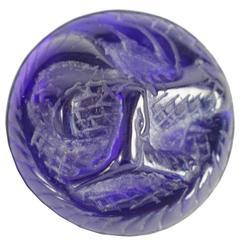 """René Lalique Broche"""" Serpent"""" Electric Blue"""