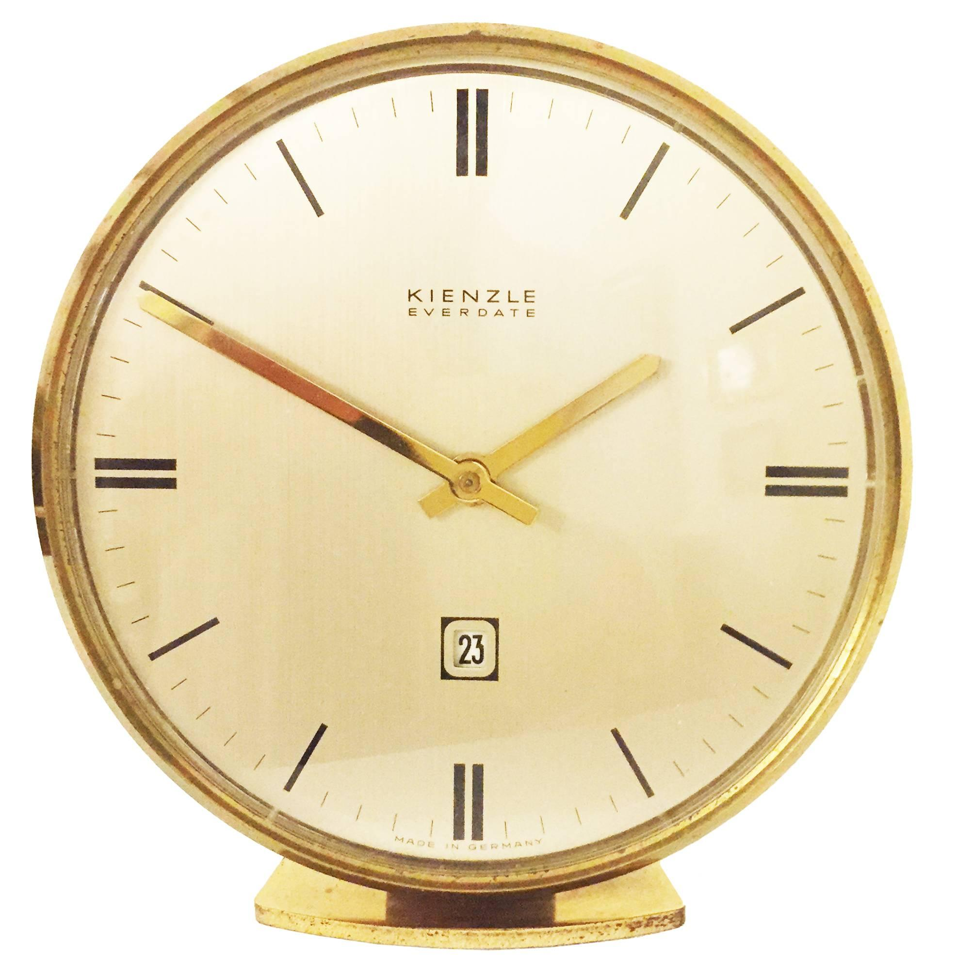1950s Wood German Wall Clock by Kienzle For Sale at 1stdibs