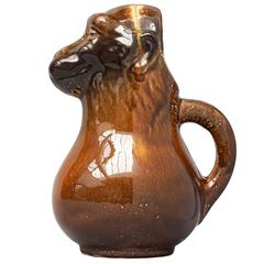 French Majolica Monkey Water Pitcher or Jug