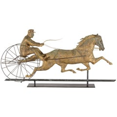 Horse George M. Patchen with a Sulkey and Driver Large Weathervane