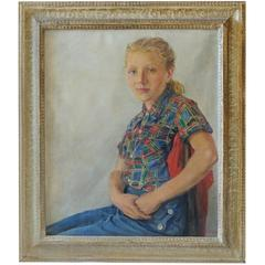 Portrait of a Young Girl, by Artist Jean Winifred Inglis