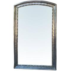 c.1860-1890 French Silver Gilt Louis Phillippe Mirror