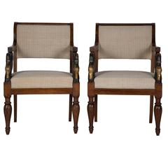 Pair of Early 19th Century Italian Chairs