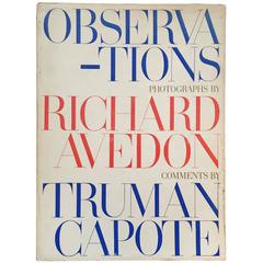 'Observations' Photographs by Richard Avedon, Comments by Truman Capote 1959