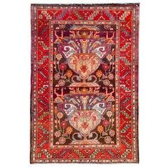 Vintage Persian Hamadan Throw Rug