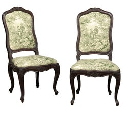 Pair of Louis XV Side Chairs of Oak