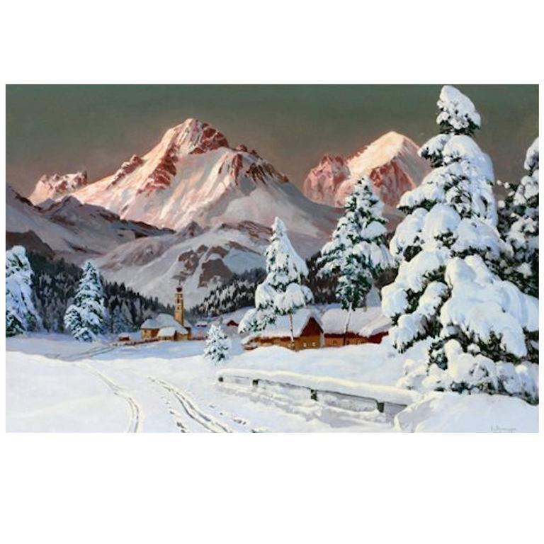 """Fresh Snow"" by Austrian Artist Alois Arnegger"