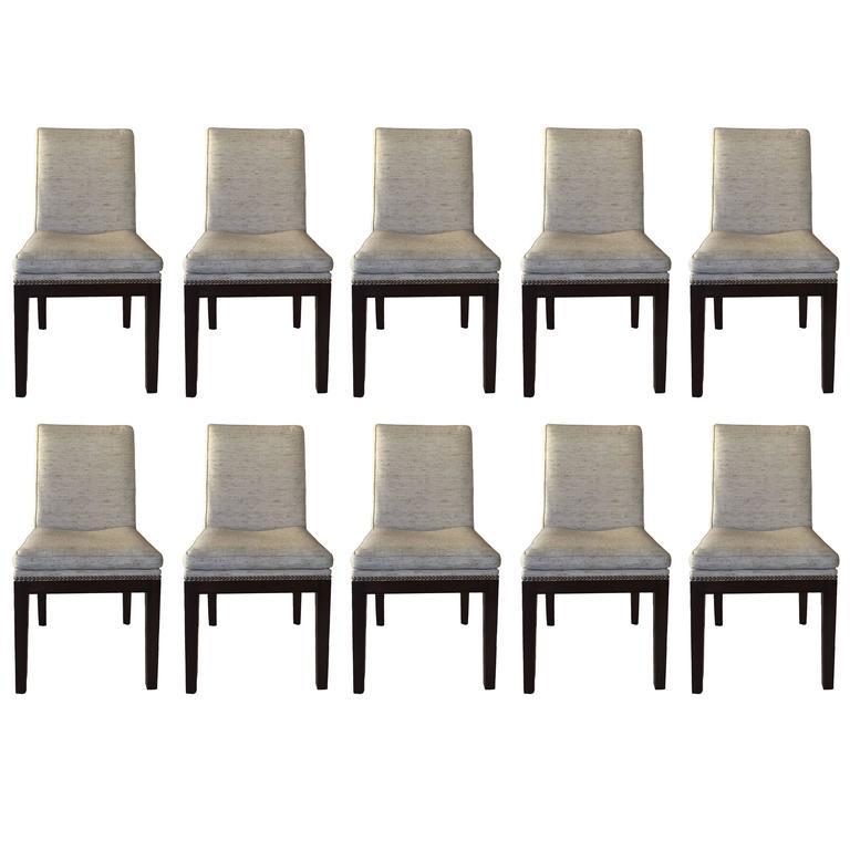 Custom Dining Chairs set of ten jean michel frank style custom dining chairs at 1stdibs